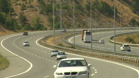 Timelapse aoutoban del tráfico de la carretera almacen de metraje de vídeo