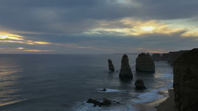 Timelapse 12 Apostles in Australia stock video