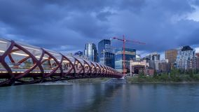 Timelapse arrebatador da skyline, Calgary video estoque