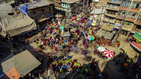 Timelapse of Asan Chowk in Kathmandu, Nepal stock footage