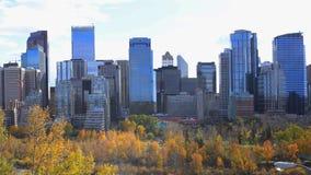 Timelapse av Calgaryen, Kanada horisont 4K lager videofilmer