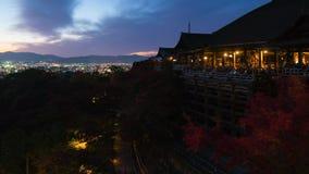 Timelapse av den Kiyomizu templet arkivfilmer