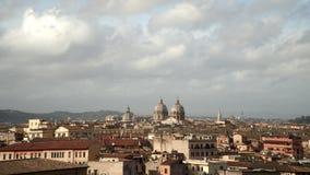 Timelapse av den Rome sikten Sts Paul domkyrka på sommartid Italien 2018 arkivfilmer