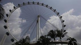 Timelapse av den Singapore reklambladet lager videofilmer