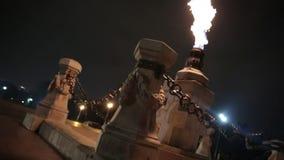 Timelapse av en monumentflamma arkivfilmer