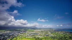 Timelapse av moln över Kailua, nolla-`-ahu, Hawaii stock video