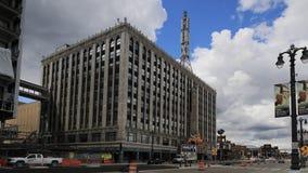 Timelapse av rävteatern i Detroit Michigan 4K stock video