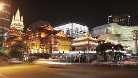 Timelapse av rusningstidtrafik i det Jingan omr?det, Shanghai, Kina stock video
