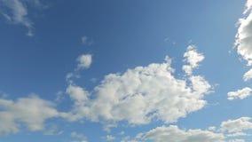 Timelapse av sommarhimlen stock video