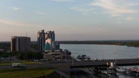 Timelapse av staden Barnaul arkivfilmer