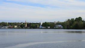 Timelapse av staden av den Mahone fjärden, Nova Scotia 4K stock video