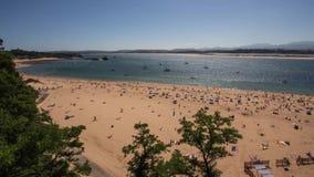 Timelapse - bahía del La Magdalena y de Santander almacen de video