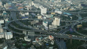 Timelapse of Bangkok city view with main traffic, Thailand stock video footage