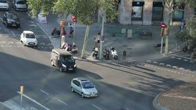 Timelapse of Barcelona streets stock video