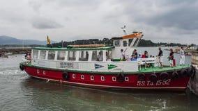 Timelapse - barco del muelle en Somo (Cantabria, España) almacen de video