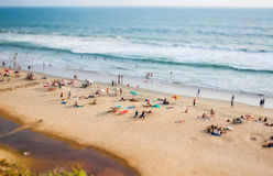 Timelapse Beach on the Indian Ocean. India (tilt shift lens). Timelapse Beach on the Indian Ocean stock photo