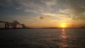 Timelapse of beautiful bridges surrounding the Tokyo Bay. stock footage
