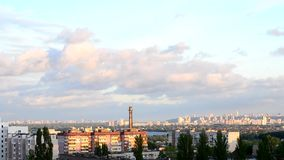 Timelapse of beautiful clouds moving over Kiev stock video footage