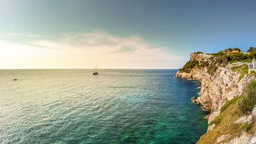 Timelapse of beautiful landscape of Mallorca island, Spain. stock video