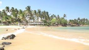 Timelapse of beautiful sandy beach in Sri Lanka. Beautiful sandy beach in Sri Lanka stock footage