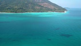 Aerial view of paradise Ko Lipe, Thailand stock video footage
