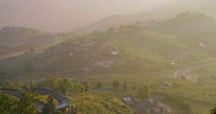 Timelapse - berg som är slingrande i Sicilien lager videofilmer