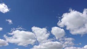 Timelapse białe chmury, 4k Piękna chmura rusza się w świetle słonecznym w niebieskim niebie zbiory wideo