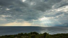 Timelapse bij Adriatische Overzees in Kroatië stock video