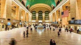 Timelapse binnen de Grand Central -Terminal, de Stad van New York stock videobeelden