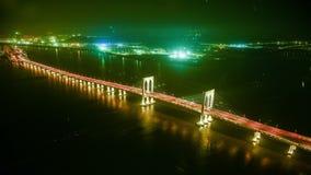 Timelapse and bird view of Hongkong-Zhuhai-Macau Bridge, Macau, China