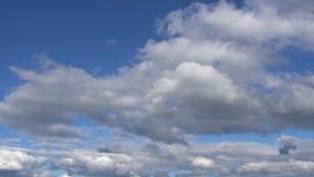 Timelapse Blauwe Wolken stock video