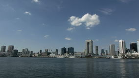 Timelapse of blue autumn skies and cloudscape over the Tokyo horizon. stock video footage