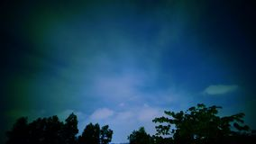 Timelapse of blue sky at night stock video