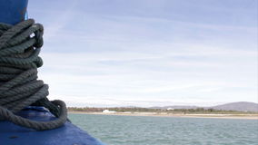 Timelapse boat travel in Ria Formosa stock footage