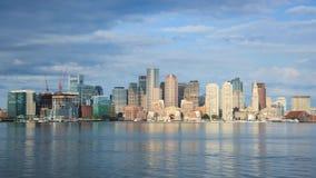 Timelapse of Boston Skyline in Massachusetts. USA stock video