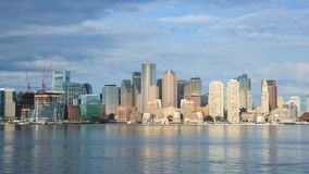 Timelapse of Boston Skyline in Massachusetts stock video
