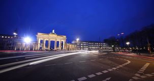 Timelapse Brandenburg Gate Berlin stock video