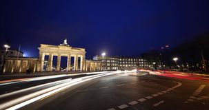 Timelapse Brandenburg Gate Berlin stock footage