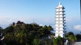 Timelapse of Buddha Temple in Ba Na Hills, Danang, Vietnam. February 2017 stock video