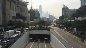 Timelapse on busy street in Hong Kong stock video footage