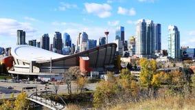 Timelapse Calgary, Alberta linia horyzontu 4K zdjęcie wideo