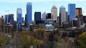 Timelapse Calgary, Kanada linia horyzontu 4K zdjęcie wideo