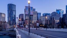 Timelapse of Calgary skyline stock footage