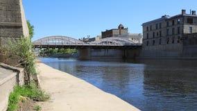 Timelapse Cambridge, Kanada widok przy Uroczystą rzeką 4K zbiory