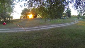 Timelapse camping stock video footage