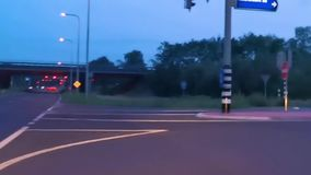 Timelapse of a car driving on the roads of Apeldoorn, road to the highway in speedup, 6 august, 2019, The netherlands stock video footage