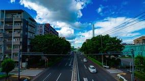 A timelapse of car street at Kanpachi avenue in Tokyo daytime wide shot panning. A timelapse of car street at the avenue daytime wide shot panning. Setagaya stock footage