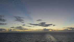 Timelapse caribbean Sea at sunset Royalty Free Stock Images