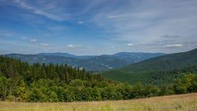 Timelapse Carpathian, montanhas recolhidas fotos de Beskid video estoque