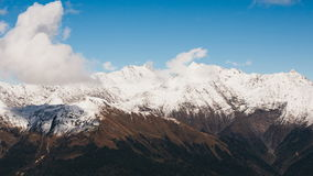 Timelapse of Caucasus mountains in Olympic Sochi city in Russia stock footage
